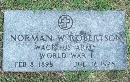 ROBERTSON, NORMAN W (VETERAN WWI) - Barry County, Missouri | NORMAN W (VETERAN WWI) ROBERTSON - Missouri Gravestone Photos