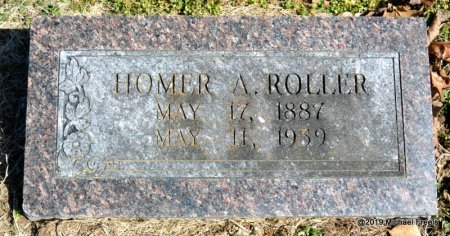 ROLLER, HOMER ARCHIE - Barry County, Missouri | HOMER ARCHIE ROLLER - Missouri Gravestone Photos