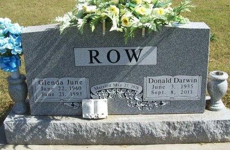 ROW, GLENDA JUNE - Barry County, Missouri   GLENDA JUNE ROW - Missouri Gravestone Photos