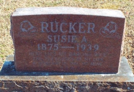 RUCKER, SUSIE A - Barry County, Missouri | SUSIE A RUCKER - Missouri Gravestone Photos