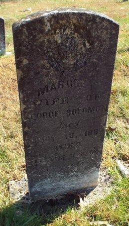 SOLOMON, MARGARET - Barry County, Missouri | MARGARET SOLOMON - Missouri Gravestone Photos