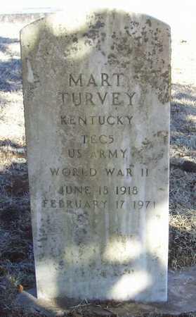 TURVEY, MART VETERAN WWII - Barry County, Missouri | MART VETERAN WWII TURVEY - Missouri Gravestone Photos