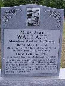 WALLACE, JEAN FAMOUS MOUNTAIN MAID OF THE OZARKS - Barry County, Missouri | JEAN FAMOUS MOUNTAIN MAID OF THE OZARKS WALLACE - Missouri Gravestone Photos
