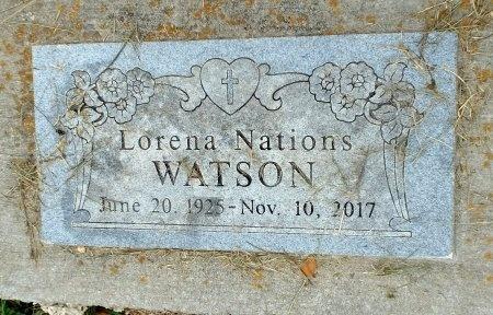 NATIONS WATSON, LORENA (2ND HEADSTONE) - Barry County, Missouri | LORENA (2ND HEADSTONE) NATIONS WATSON - Missouri Gravestone Photos