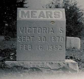 MEARS, VICTORIA SABINA - Bates County, Missouri | VICTORIA SABINA MEARS - Missouri Gravestone Photos