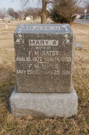 PALMER BATES, MARY A. - Boone County, Missouri | MARY A. PALMER BATES - Missouri Gravestone Photos
