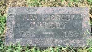 CORDRY, ADA FRANCES - Buchanan County, Missouri   ADA FRANCES CORDRY - Missouri Gravestone Photos