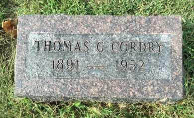 CORDRY, THOMAS GARDEN - Buchanan County, Missouri | THOMAS GARDEN CORDRY - Missouri Gravestone Photos
