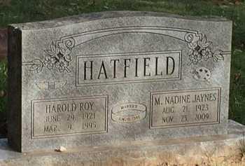 JAYNES HATFIELD, MARGARET NADINE - Buchanan County, Missouri | MARGARET NADINE JAYNES HATFIELD - Missouri Gravestone Photos