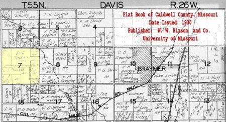 *, APPROXIMATE LOCATION - Caldwell County, Missouri   APPROXIMATE LOCATION * - Missouri Gravestone Photos