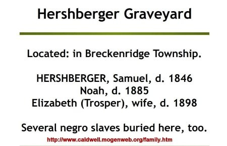 HERSHBERGER, SLAVE - Caldwell County, Missouri | SLAVE HERSHBERGER - Missouri Gravestone Photos