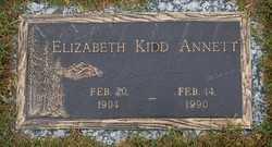 ANNETT, ELIZABETH - Callaway County, Missouri   ELIZABETH ANNETT - Missouri Gravestone Photos