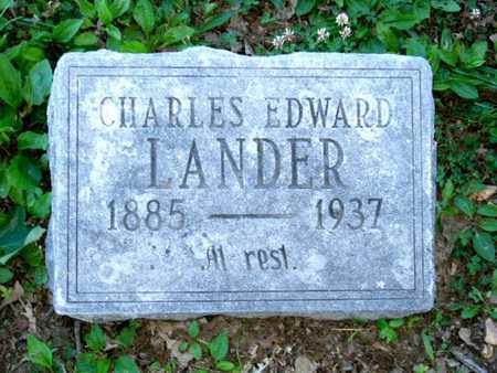 LANDER, CHARLES EDWARD - Callaway County, Missouri | CHARLES EDWARD LANDER - Missouri Gravestone Photos