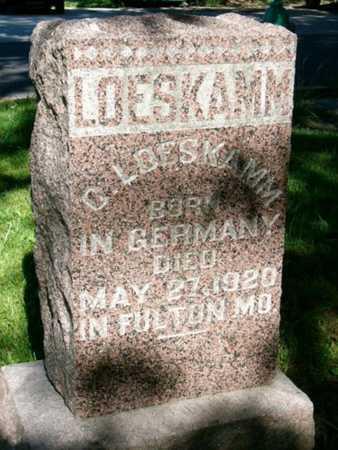 LOESKAMM, CHRISTIAN - Callaway County, Missouri | CHRISTIAN LOESKAMM - Missouri Gravestone Photos