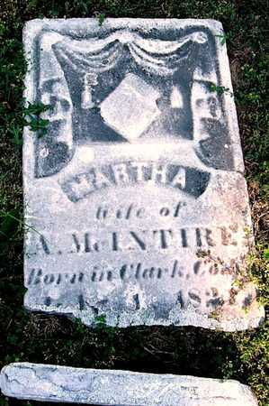MCINTIRE, MARTHA - Callaway County, Missouri   MARTHA MCINTIRE - Missouri Gravestone Photos