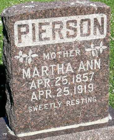 MASSEY PIERSON, MARTHA ANN - Callaway County, Missouri | MARTHA ANN MASSEY PIERSON - Missouri Gravestone Photos
