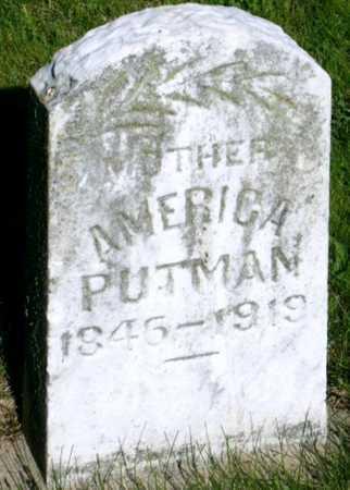 MANESS PUTMAN, AMERICA JANE - Callaway County, Missouri | AMERICA JANE MANESS PUTMAN - Missouri Gravestone Photos