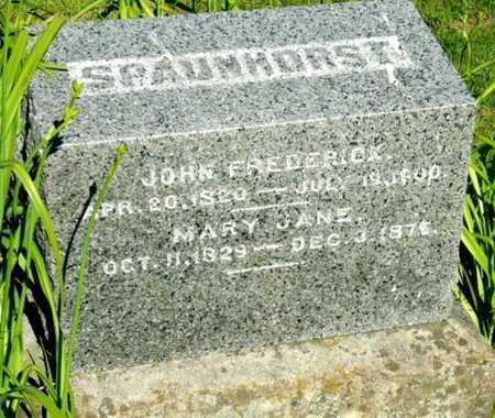 SPAUNHORST, JOHN FREDERICK WILLIAM - Callaway County, Missouri | JOHN FREDERICK WILLIAM SPAUNHORST - Missouri Gravestone Photos