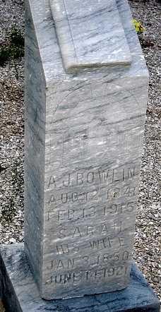 BOWLIN, ANDREW JACKSON - Camden County, Missouri | ANDREW JACKSON BOWLIN - Missouri Gravestone Photos