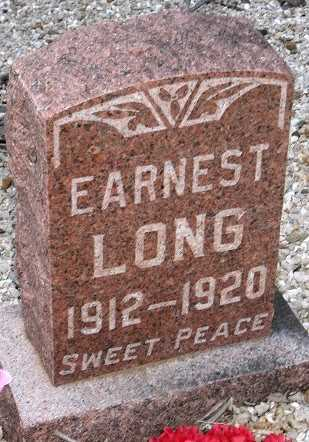 LONG, EARNEST - Camden County, Missouri | EARNEST LONG - Missouri Gravestone Photos