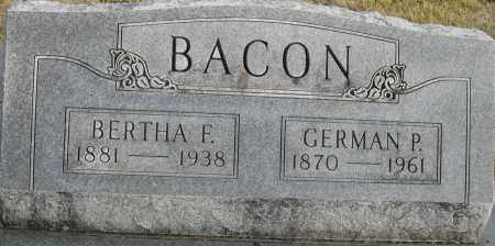 BACON, GERMAN P. - Cedar County, Missouri | GERMAN P. BACON - Missouri Gravestone Photos