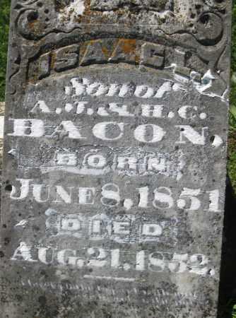 BACON, ISAAC L. - Cedar County, Missouri | ISAAC L. BACON - Missouri Gravestone Photos