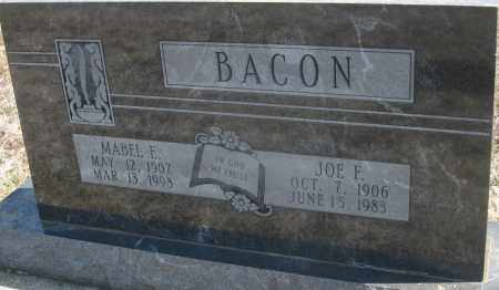 BACON, JOE F. - Cedar County, Missouri | JOE F. BACON - Missouri Gravestone Photos