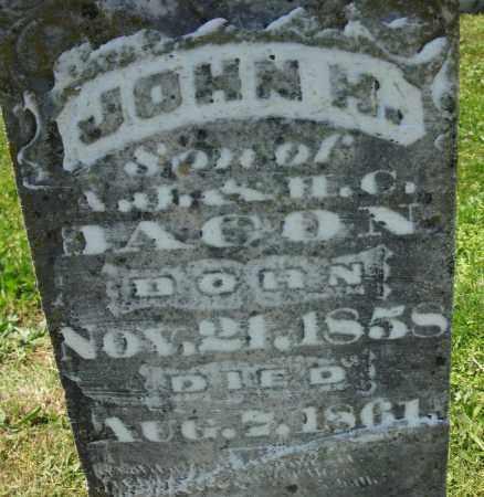 BACON, JOHN H. - Cedar County, Missouri | JOHN H. BACON - Missouri Gravestone Photos