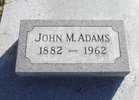 ADAMS, JOHN MILTON - Chariton County, Missouri | JOHN MILTON ADAMS - Missouri Gravestone Photos
