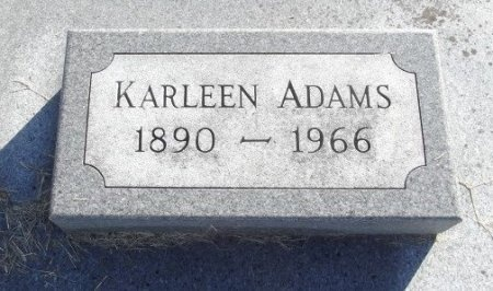 ADAMS, KARLEEN - Chariton County, Missouri | KARLEEN ADAMS - Missouri Gravestone Photos
