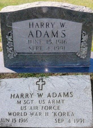 ADAMS, HARRY W (VETERAN WWII KOR) - Chariton County, Missouri | HARRY W (VETERAN WWII KOR) ADAMS - Missouri Gravestone Photos