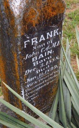 BAIN, FRANK - Christian County, Missouri | FRANK BAIN - Missouri Gravestone Photos