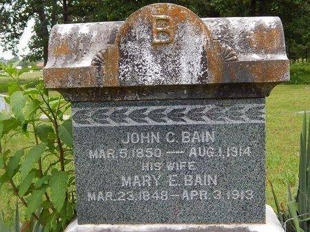 BAIN, MARY E - Christian County, Missouri   MARY E BAIN - Missouri Gravestone Photos