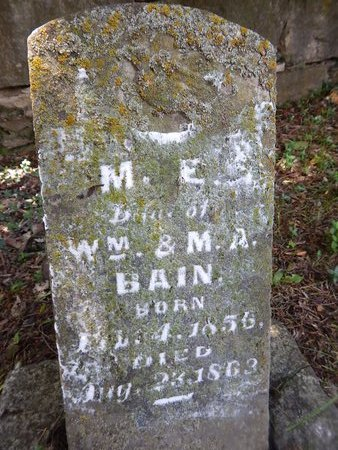 BAIN, MARY E - Christian County, Missouri | MARY E BAIN - Missouri Gravestone Photos