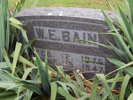 BAIN, WILLIAM E. - Christian County, Missouri | WILLIAM E. BAIN - Missouri Gravestone Photos