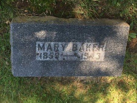 BALLARD BAKER, MARY - Christian County, Missouri | MARY BALLARD BAKER - Missouri Gravestone Photos