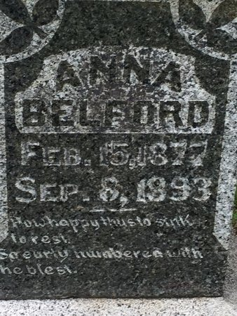 BELFORD, ANNA - Christian County, Missouri   ANNA BELFORD - Missouri Gravestone Photos