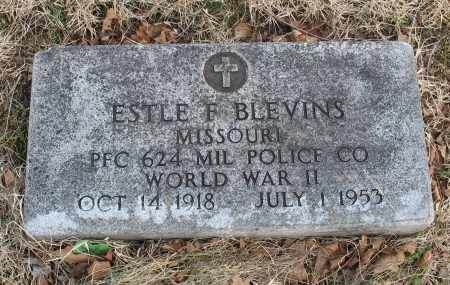 BLEVINS, ESTLE F VETERAN WWII - Christian County, Missouri | ESTLE F VETERAN WWII BLEVINS - Missouri Gravestone Photos