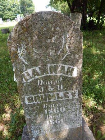 BRUMLEY, HANNAH - Christian County, Missouri | HANNAH BRUMLEY - Missouri Gravestone Photos