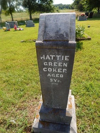 COKER, HATTIE GREEN - Christian County, Missouri | HATTIE GREEN COKER - Missouri Gravestone Photos