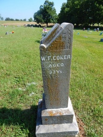 COKER, WILLIAM F - Christian County, Missouri | WILLIAM F COKER - Missouri Gravestone Photos
