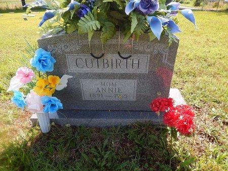 JONES CUTBIRTH, ANNIE - Christian County, Missouri | ANNIE JONES CUTBIRTH - Missouri Gravestone Photos