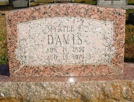 DAVIS, MYRTLE E. - Christian County, Missouri   MYRTLE E. DAVIS - Missouri Gravestone Photos