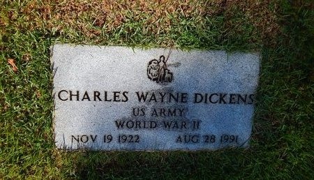 DICKENS, CHARLES WAYNE VETERAN WWII - Christian County, Missouri   CHARLES WAYNE VETERAN WWII DICKENS - Missouri Gravestone Photos