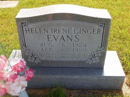 GINGER EVANS, HELEN IRENE - Christian County, Missouri | HELEN IRENE GINGER EVANS - Missouri Gravestone Photos