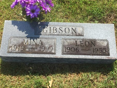 WARD GIBSON, MINA - Christian County, Missouri | MINA WARD GIBSON - Missouri Gravestone Photos