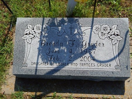 GRYDER, BRENDA F - Christian County, Missouri | BRENDA F GRYDER - Missouri Gravestone Photos