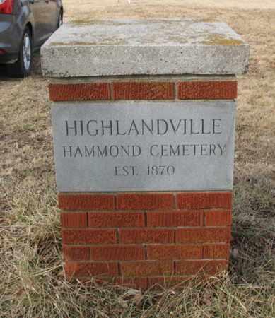 *, HAMMOND CEMETERY SIGN - Christian County, Missouri | HAMMOND CEMETERY SIGN * - Missouri Gravestone Photos