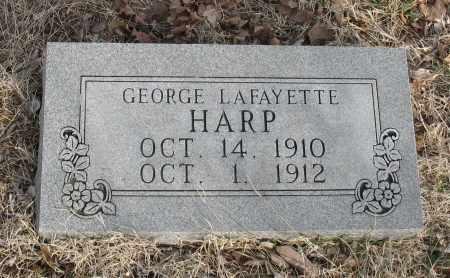 HARP, GEORGE LAFAYETTE - Christian County, Missouri | GEORGE LAFAYETTE HARP - Missouri Gravestone Photos