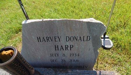 HARP, HARVEY DONALD - Christian County, Missouri | HARVEY DONALD HARP - Missouri Gravestone Photos